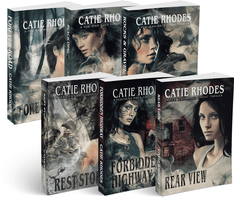 The Peri Jean Mace Ghost Thriller series by author Catie Rhodes