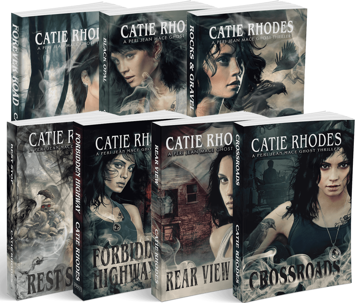 The Peri Jean Mace Ghost Thrillers series by Catie Rhodes
